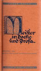 Raith, Josef;  Meister in Poesie und Prosa - Zweiter Teil: Kleine englische Literaturgeschichte
