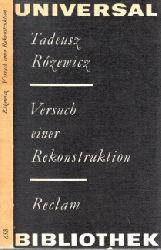 Rözewtcz, Tadeusz; Versuch einer Rekonstruktion - Erzählungen Reclams Universal-Bibliothek Band 658