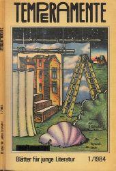 Autorengruppe; Temperamente - Blätter für junge Literatur 1 + 2/1982; 1 + 2 1983; 1/1984; 1/1986 6 Heftchen