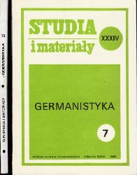Autorengruppe;  Studia i materialy Germanistyka - Nr. 7, 13 2 Bücher