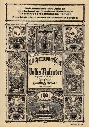 Grote, Ludwig; Alt-Hannoverscher Volkskalender auf das Jahr 1991 119. Jahrgang