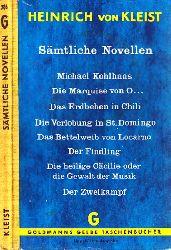 Von Kleist, Heinrich;  Sämtliche Novellen