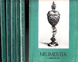 Autorengruppe;  Neumeister Münchener Kunstauktionskatalog - Auktionen: 198, 199, 202, 205, 208, 213 6 Kataloge