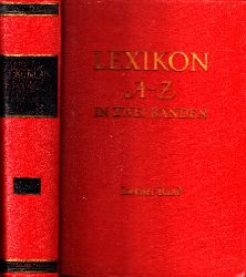 Wahrig, Gerhard und Alfred M. Uhlmann;  Lexikon A-Z in zwei Bänden - zweiter Band: L-Z