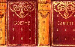 Schultz, Frank;  Goethes sämtliche Werke in fünfundvierzig Bänden - 1.-4. Band und 17.-20. Band 2 Bücher