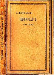 Holthausen, F.;  Beowulf nebst den kleineren Denkmälern der Heldensage - 1. Teil: Texte und Namenverzeichnis mit 2 Tafeln