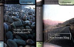 Nilsen, Tove und Arnaldur Indridason;  Nachtzuschlag - Todeshauch 2 Bücher der Serie midsommer TODE