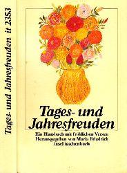 Friedrich, Maria;  Tages- und Jahresfreuden - Ein Hausbuch mit fröhlichen Versen insel taschenbuch 2353