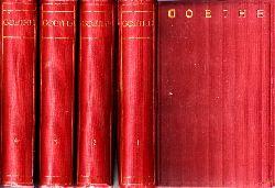 Schultz, Franz;  Goethes Werke in sechzehn Bänden - 1. bis 4. Band 4 Bücher