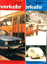 Graf, Rudolf;  Der deutsche Straßenverkehr - Zeitschrift für Verkehr und Wirtschaft - Hefte  10, 11/1978 2 Hefte