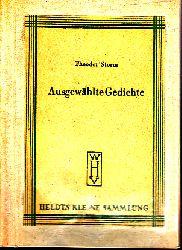 Storm, Theodor; Ausgewählte Gedichte
