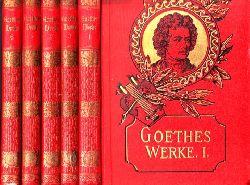 Goetschhe, Johann Wolfgang;  Goethes Werke Bände 1, 3, 4, 5, 6 - illustrierte Ausgabe 5 Bücher