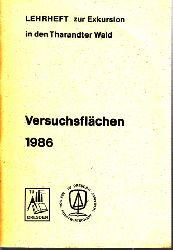 Wätzig, H.;  Versuchsflächen 1986 - Lehrheft zur Exkursion in den Tharandter Wald
