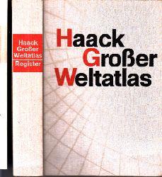 Autorengruppe; Haack Großer Weltatlas  Register + Register zu den Erweiterungskarten 2 Bücher