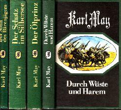 May, Karl; Der Sohn des Bärenjägers - Der Schatz am Silbersee - Der Ölprinz - Durch Wüste und Harem 4 Bücher