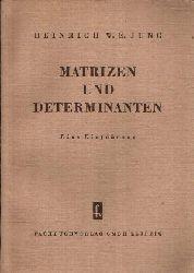 Jung, Heinrich W.E.:  Matrizen und Determinanten Eine Einführung