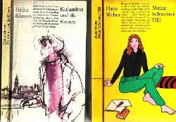 Weber, Hans und Heinz Klemkem;  Meine Schwester Tilli - Kolumbus und die Katzen 2 Bücher - Bustrationen: Gitta Kettner und Volker Pfüller