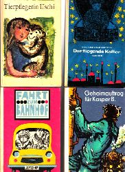 Autorengruppe; Der fliegende Koffer - Geheimauftrag: für Kasper B. - Tierpflegerin Uschi - Fahrt zum Bahnhof Robinson billige Bücher Band 112, Band 132, Band 135, Band 138