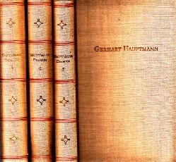 Hauptmannn, Gerhart;  Ausgewählte Dramen Band 2, 3, 4 3 Bücher