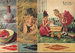Croy, Otto und Wolfgang von Welz; Klick - Informationen für Foto-Freunde Heft 7, 8, 11 / 1959 3 Hefte