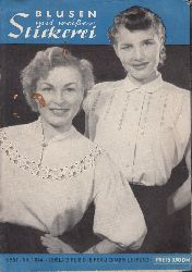 Hahnemann, Eva; Blusen mit weißer Stickerei mit Schnittbogen