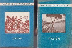 Hoffmann, Walter, Liang Hsi und Joachim Bagemühl;  Was jeder wissen muss Nr.4: China und Nr. 5: Italien 2 Heftchen