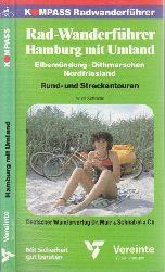 Schnelle, Adolf und Uwe und Frank Schlinzig; Radwanderführer Hamburg mit Umland, Elbemündung, Dithmarschen, Nordfriesland - Kompass Radwanderführer 3., überarbeitete Auflage