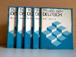 Achtermann, Norbert, Wilfried Ehlen Karlheinz Bedall u. a.;  Telekolleg I Deutsch - Band 1 bis Band 5, Lerneinheiten 1 bis 65 5 Bücher
