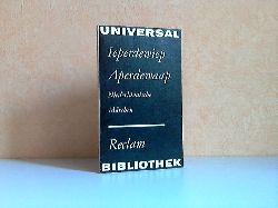 Von Soer, Joseph-Hendricus; Ieperdewiep Aperdewaap - Niederländische Märchen Reclam Band 919 1. Auflage