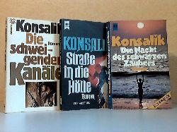 Konsalik, Heinz G.; Die schweigenden Kanäle - Straße in die Hölle - Die Nacht des schwarzen Zaubers 3 Bücher