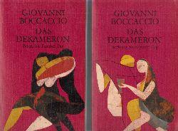 Boccaccio, Giovanni;  Das Dekameron. Erster bis fünfter Tag. und  Sechster bis zehnter Tag
