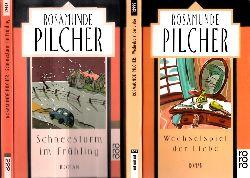 Pilcher, Rosamunde;  Wechselspiel der Liebe + Schneesturm im Frühling 2 Bücher