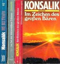 Konsalik, Heinz G.;  Im Zeichen des großen Bären - Die Blutmafia - Im Tal der bittersüßen Träume 3 Bücher