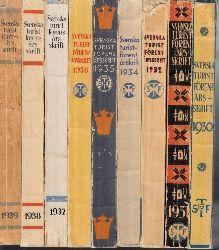 Autorengruppe;  Svenska Turistföreningens Arsskrift 1930, 1931, 1932, 1934, 1935, 1936, 1937, 1938, 1939 9 Bücher