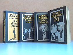 Hammett, Dashiell und Raymond Chandler;  Der dünne Mann - Der große Schlaf - Der Fluch des Hauses Dain - Der König in Gelb 4 spannende Romane
