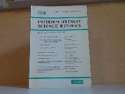Autorengrupppe;  Interdisciplinary science reviews - Volume 3, Number 4, December 1978
