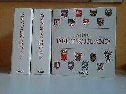 Autorengruppe;  ATLAS DEUTSCHLAND - Sammelwerk, 3 Sammelordner mit 13 Bundesländern