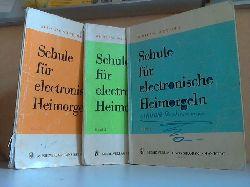 Schneider, Wolfgang; Schule für electronische Heimorgeln Band 1 bis 3 3 Hefte