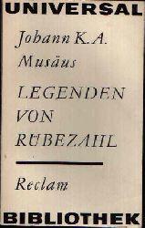 Musäus, Johann K.A.:  Legenden von Rübezahl