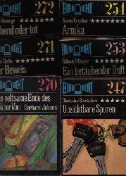 Autorengruppe: Swetoslaw Slawtschew - Unsichtbare Spuren; Helmut E. Günter - Ein betäubender Duft; Assen Krystew - Arnika; Gerhard Johann - Das seltsame Ende des Doktor Vau; Hans Siebe - Der Beweis; Horst Ansorge - Lebend oder tot; Blaulicht Nr. 247, 253, 254, 270, 271, 272