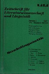 Dittmar, Norbert und Siegfried Jäger:  Soziolinguistik Zeitschrift für Literaturwissenschaft und Linguistik - Jahrgang 2 Heft 7
