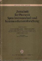 Meier, Georg Friedrich:  Zeitschrift für Phonetik Sprachwissenschaft und Kommunikation Form, Semantik und Funktion der Sprache - Band 27 Heft 1-3