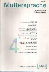 Müller, Gerhard: Muttersprache Vierteljahresschrift für deutsche Sprache - Jahrgang 101 1994