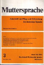 Autorengruppe: Muttersprache Band 102 Zeitschrift zur Pflege und Erforschung der deutschen Sprache September