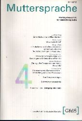Autorengruppe; Muttersprache Band 104 Vierteljahresschrift für deutsche Sprache