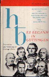 Löschburg, Winfried: Es begann in Göttingen Humanistische und Revolutionär- Demokratische Traditionen des Bürgertums 1. Auflage