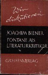 Biener, Joachim;  Fontane als Literaturkritiker