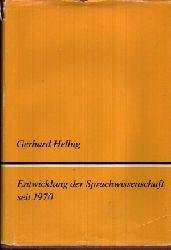 Helbig, Gerhard: Entwicklung der Sprachwissenschaft seit 1970