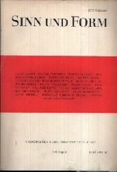 Akademie der Künste der DDR (Herausgeber):  Sinn und Form - Beiträge zur Literatur vierzigstes Jahr / 1988 / viertes Heft