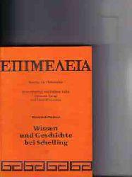 Durner, Manfred: Wissen und Geschichte bei Schelling : e. Interpretation d. ersten Erlanger Vorlesung  -  Band 31